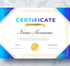 Beautiful Certificate Achievement Psd Template 69286 126