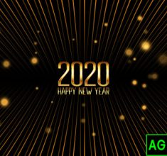 Golden Happy New Year Banner 1048 11462