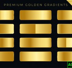 Premium Golden Gradients Swatches Set 1017 14264