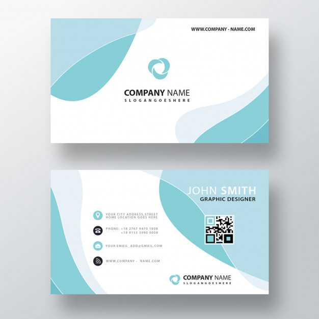Blue Wavy Abstract Business Card 1409 911