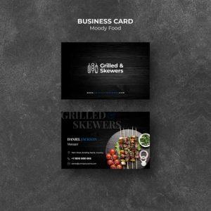 Grilled Steak Veggies Restaurant Business Card Template 23 2148429039