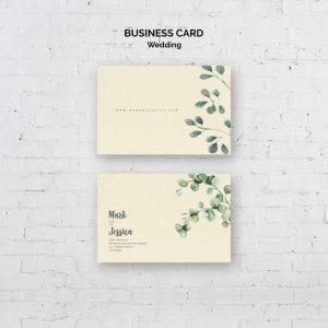 Minimalist Wedding Business Card 23 2148495341