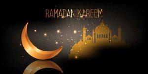 Ramadan Kareem Banner With Crescent Mosque Design 1048 12106