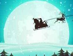 ویدیو فوتیج پس زمینه حرکت سورتمه کریسمس