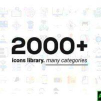 پروژه آماده افترافکت کتابخانه ایکون های متحرک