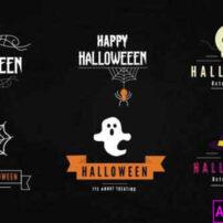 پروژه آماده پریمیر پک عناوین هالووین