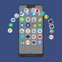 ویدیو فوتیج ایکون برنامه های تلفن همراه