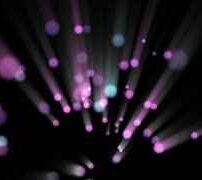 ویدیو فوتیج ذرات براق بنفش درخشان