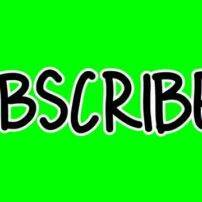 ویدیو فوتیج نوشته سابسکرایب