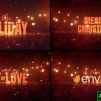 پروژه آماده افترافکت تبریک سال نو و کریسمس