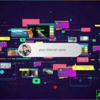 پروژه آماده افترافکت معرفی آدرس شبکه اجتماعی