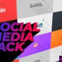 پروژه آماده پریمیر پک معرفی شبکه های اجتماعی فلت