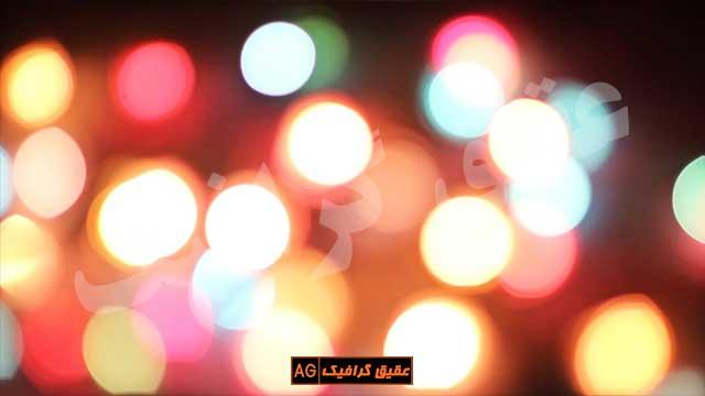 ویدیو فوتیج بوکه های رنگارنگ 15