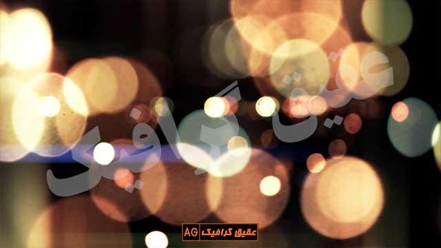 ویدیو فوتیج بوکه های رنگارنگ 6