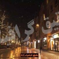 ویدیو فوتیج شب زمستانی همراه با بارش برف