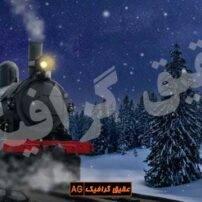 ویدیو فوتیج قطار کریسمس