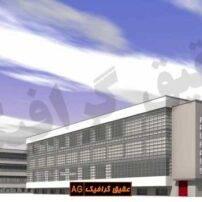 ویدیو فوتیج گذر ابر از بالای ساختمان و غروب آفتاب