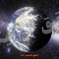 ویدیو فوتیج کره زمین و ماه در کهکشان