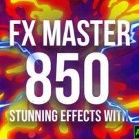 پروژه آماده افترافکت المنت های اکشن کارتونی FX Master