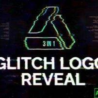 پروژه آماده افترافکت لوگو موشن گلیچ Glitch Logo Reveal