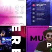پروژه آماده افترافکت موزیک اکولایزر Virtual music visualizer