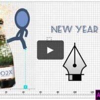 پروژه آماده پریمیر تبریک سال نو