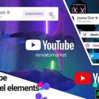 پروژه آماده افترافکت المنت های کانال یوتیوب