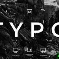 پروژه آماده افترافکت تایپوگرافی Typography