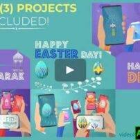 پروژه آماده افترافکت تبریک روز عید