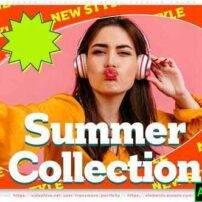 پروژه آماده افترافکت مجموعه تابستانی تبلیغات استایل های فشن