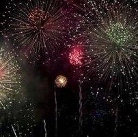 ویدیو فوتیج آتش بازی در آسمان