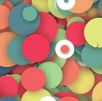 ویدیو فوتیج پس زمینه دایره ای رنگارنگ