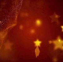 ویدیو فوتیج پس زمینه ستاره ها و ذرات طلایی