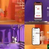 پروژه آماده افترافکت تبلیغات اپلیکیشن اینستاگرام