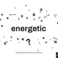 پروژه آماده افترافکت تیزر تایپوگرافی پر انرژی