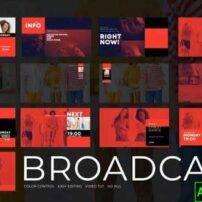 پروژه آماده افترافکت پک Broadcast
