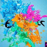پروژه آماده پریمیر لوگو موشن Liquid Paint Splash