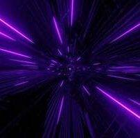 ویدیو فوتیج حرکت سریع پرتوهای نور نئون