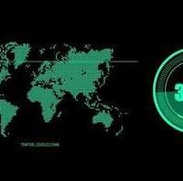 ویدیو فوتیج نقشه سبز مانیتور HUD