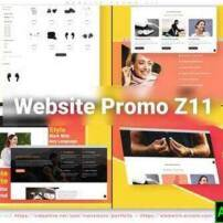 پروژه آماده افترافکت تبلیغات وبسایت Z11