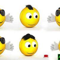پروژه آماده افترافکت لوگو موشن ایموجی طنز