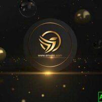 پروژه آماده افترافکت لوگو موشن طلایی