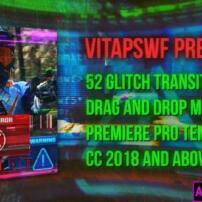 پروژه آماده پريمير 52 ترانزيشن گليچ Glitch Transitions