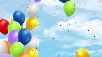 ویدیو فوتیج پس زمینه روز تولد و روز شادی