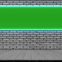 ویدیو فوتیج کف چوبی تخته خاکستری و قاب خالی با نور آبی