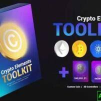 پروژه آماده افترافکت پک المنت های کریپتو Crypto Elements Toolkit