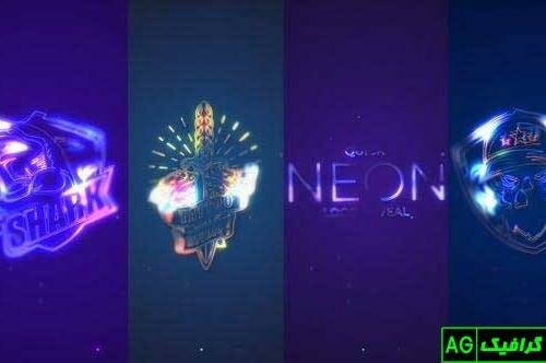 پروژه آماده افترافکت لوگو موشن نئون سریع Quick Neon