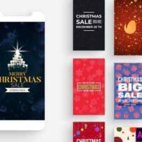 پروژه آماده پریمیر استوری های اینستاگرام برای کریسمس