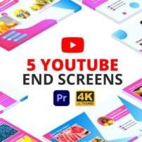 پروژه آماده پریمیر صفحه پایانی یوتیوب