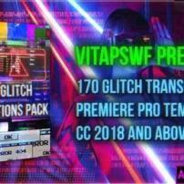 پروژه آماده پریمیر پک 170 ترانزیشن گلیچ Glitch Transitions